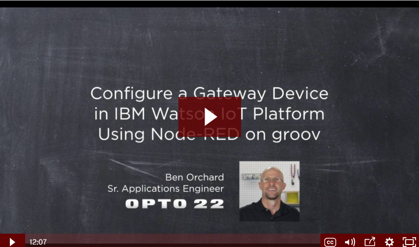IBM Watson IoT and groov on Node-RED