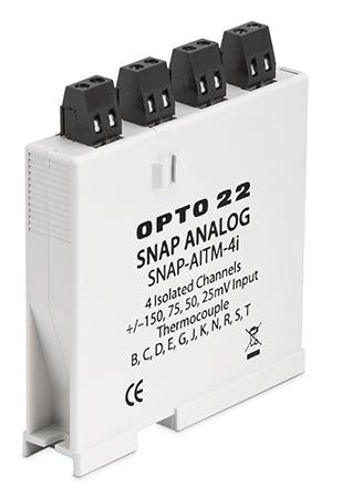 SNAP-AITM-4i 4-channel isolated thermocouple or millivolt analog input module