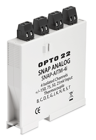 SNAP-AITM-4i 4-channel isolated thermocouple or millivolt analog input module