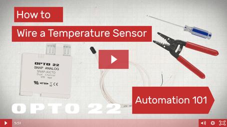 Video: Wire a temperature sensor